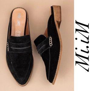 Mi.iM Faroe Black Mules Loafers Size 6.5